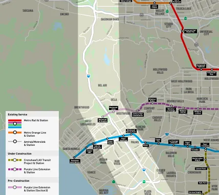 Metro selects 5 contractors to compete to build transit line in Los Angeles